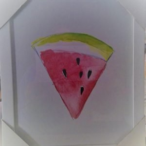 Watermelon Slice Watercolor Print Wall Art
