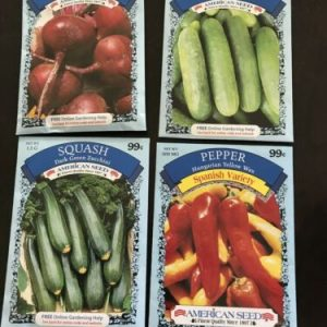 4 Packs Of Vegetable Seeds Beet, Cucumber, Zucchini, American Seed 2020