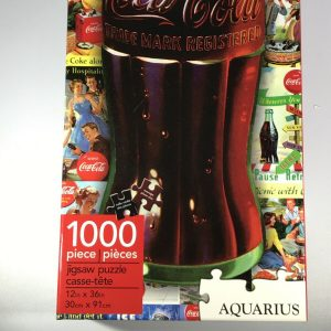 Coca Cola 1000 Pieces Jigsaw Puzzles Aquarius 12″ x 36″ Slim Coke Bottle Design