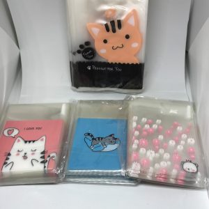 40 pack, 4 variety Cat Themed bags