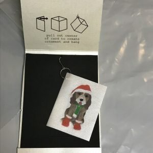 Cardlings Christmas Dog Ornament Tiny Card Christmas Stocking