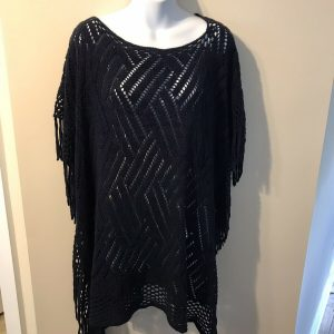Adele Women's Knit Tunic Pull Over – Dark Navy Blue Size Medium