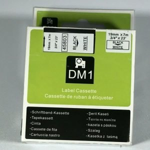 DM1 Label Cassette Compatible for DYMO D1 Series Label Makers 45803
