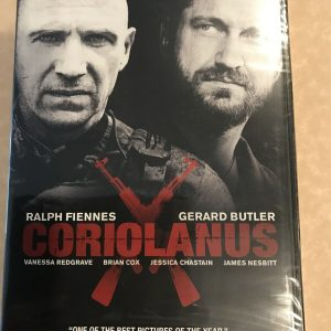 Coriolanus (DVD, 2012) New Factory Sealed Ralph Fiennes Gerard Butler