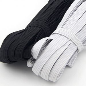 8 mm White or Black 15 yards Elastic Band Cord