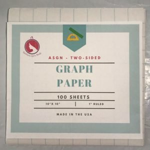 ASGN Two-sided School Graph Paper 100 sheets