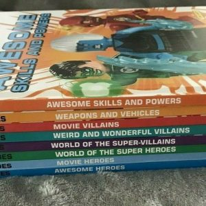 Lot Of 8 Lego Children's Books Super Heroes DC Collection