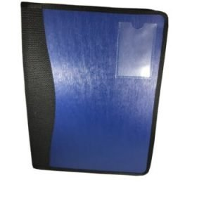 Blue Expandable 13 Pocket Folder With Tabs Zipper and Business Card Pocket