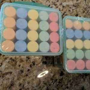Sidewalk Chalk 20 Piece | Green Bucket Lot Of 2, 40 pieces total, 5 colors
