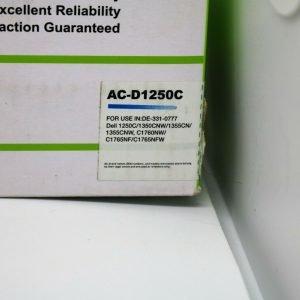 1 Premium Toner Cartridge Replacement AC-D1250C For Dell 1250c 1350cnw 1355cn