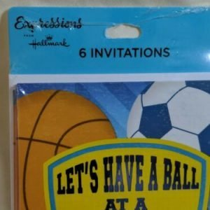 2 Boy Sports (Football Soccer Baseball) Invitations