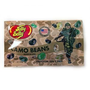 Jelly Belly Freedom Fighters Camo Beans – Three, 1 oz bags (3 ounces total wt.)