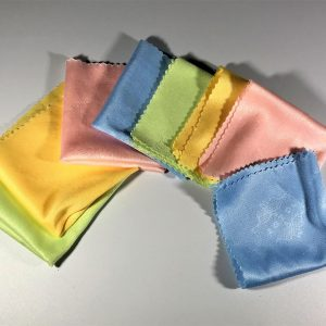4 Pastel Microfiber Cleaning Cloths 5.3 inches x 5.3 inches