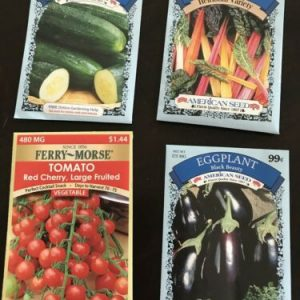 4 Packs Vegetable Seeds Tomato, Cucumber, Eggplant, Swiss Chard, American Seed