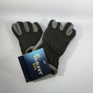 Isotoner Kids Gray Fleece and Black Gloves One Size