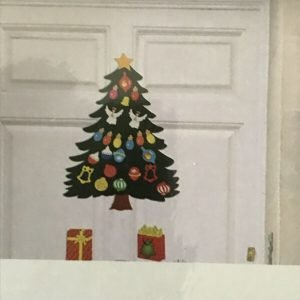 Christmas Decoration. Tree Magnet Set Fridge, Classroom, Metal Door, Garage