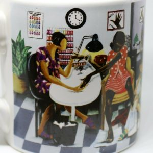 Annie Lee Sass 'n Class Oversized Coffee Mug African-American Beauty Shop Theme