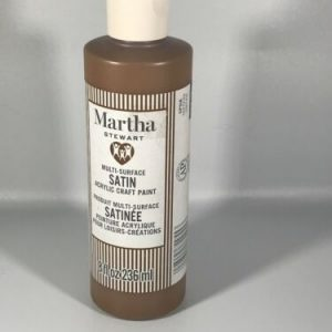 Martha Stewart Multi-surface Satin Acrylic Craft Paint 8 ounces Tree Trunk Brown