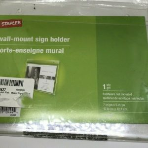 Staples Wall Mount Sign Holder