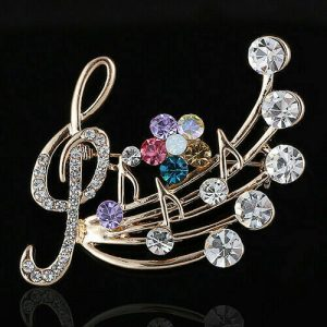 Musical Note Design Brooch Pin Girls, Teens, Women – Graduation or Recital Gift