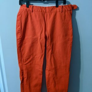 Talbolts 10 petite women's pants Red-Orange – Side Button and Side Zipper EUC