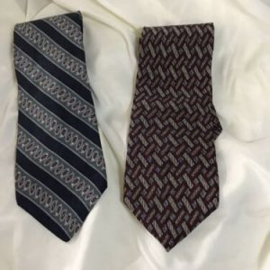 2 Claiborne men's silk ties | 100% | New | Red | Blue