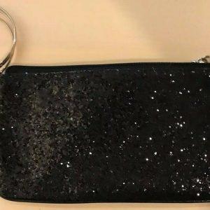 New York and Company NY&C Black Sequenced Bangled Wristlet Purse