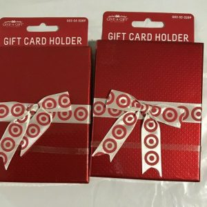 Two Target Give a Gift Card Holders