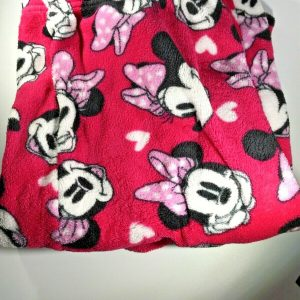 Disney Minnie Mouse Medium Pink Fleece Pajama Bottoms Long Lounge Pants Women's