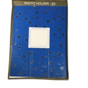 1 box Photo Holder E3 Holiday 16 Cards Blue and Silver Stars