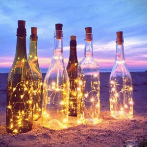 Wine Cork Bottle LED Yellow Lights 3 pieces 0.75 meters ~ 3 feet