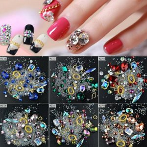 Red Nail Art for Manicures Sequin Glitter (glamour, nail glitter, nail sequins)