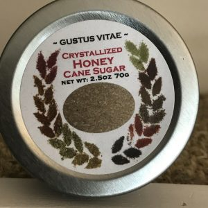 Gustus Vitae Crystallized Honey Cane Sugar 2.5 oz Hand-Crafted Small Batch