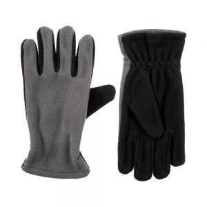 Kid's Fleece Gloves Isotoner Grey Gloves (Size 4-7)