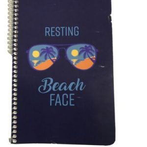 Resting Beach Face – Beach Pun Quote Saying Lined 5.5 x 8.5 Inch Spiral Notebook