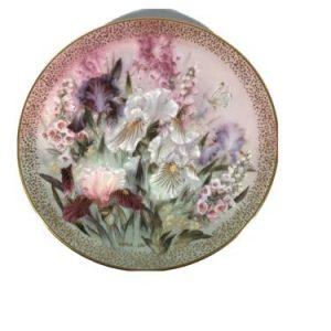Vintage Lena Lui Iris Quartet Decorative Plate #1400 E 8.5 inch plates