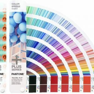 PANTONE Color Book Set – Coated & Uncoated Color Bridge Plus Series Rosa & Blue