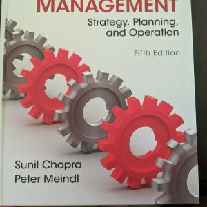 Supply Chain Management Strategy, Planning, and Operation Fifth Edition | Chopra