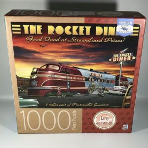 Larry Grossman The Rocket Diner 1000 piece jigsaw puzzle 20 x 27 New