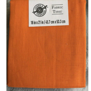 Orange 100% cotton   Loops and Threads   Fabric Tissu   18 inches x 21 inches