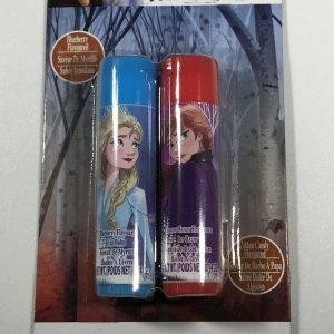 Disney Frozen II Flavored Lip Balm Blueberry & Cotton Candy Flavored 2 pack
