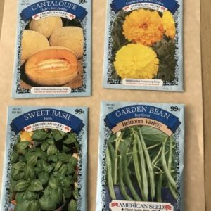Variety Pack Seeds Garden Bean Cantaloupe Marigold Sweet Basil American Seed '20