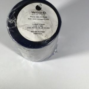 Royal Blue FH Thermal Transfer Ribbon Wax Resin 110 MM x 300 M with 1 Inch Core