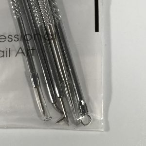 5 piece stainless steel professional nail art set