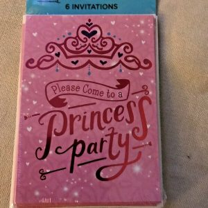 "Expressions Hallmark ""Please Come to a Princess Party"" Pink Invitations 