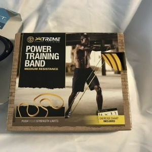 Golds Gym Power Training Band Medium Resistance and Vinyl Jump Rope