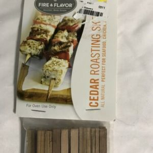 Fire & Flavor 24 Cedar Roasting Sticks Indoor 10 inches