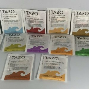 12 Variety Tazo Single Bags Tea Herbal, Black, Green, and White Special