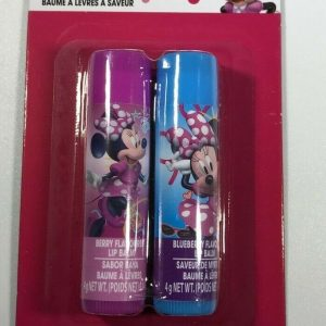 Disney Minnie Mouse Lip Balm 2 pack Berry and Blue Berry 0.14 oz each