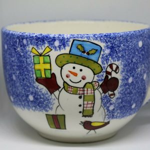 Studio Nova Oversized Frosty Snowman Mug for Coffee, Tea, Hot Chocolate, Soup